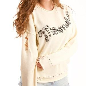 Wildfox Mermaid Bloomy Sweater Size XS NWTS